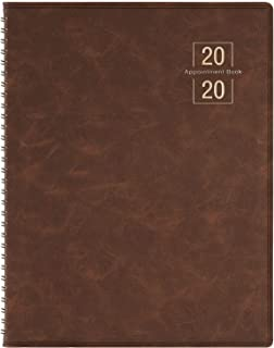 2020 Weekly Appointment Book/Planner - 53 Weeks Daily Planner Organizer with Tabs, 15-Minute Increments, Flexible Cover, Twin-Wire Binding, 8.5