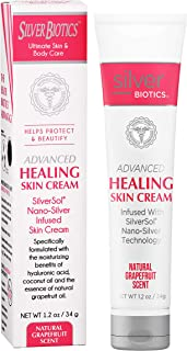 American Biotech Labs - Silver Biotics - Advanced Healing Skin Cream - Infused with SilverSol and Hyaluronic Acid - Natura...