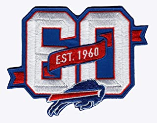 2019 Buffalo Bills 60th Anniversary Iron-on NFL Football Jersey Patch 4