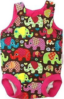 Kleine Könige Baby Strampler Mädchen Sommer Baby Body  Modell Elefantenparty Pink  Ökotex 100 zertifiziert  Größen 50-92