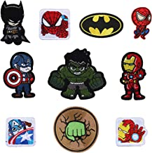 Marvel lron on Patches 10 Pieces, Morale Velcro Patches for Clothing Jeans Jackets Backpack Repair, Aesthetic Super Hero I...