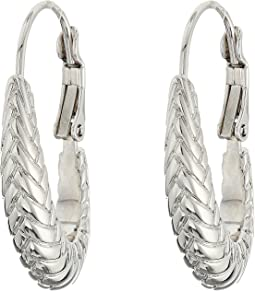 Cole Haan - Large Basket Weave Oval Hoop Earrings