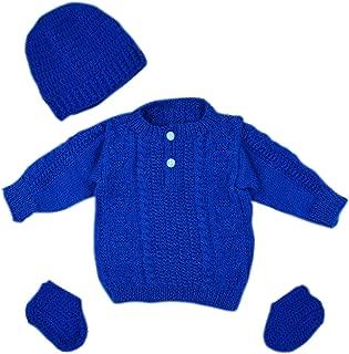 Handmade Knit Baby Boys Infant Newborn Winter Woolen Full Sleeves Sleeveless Sweater Pullover Cardigan