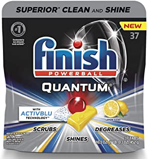 Finish - Quantum with Activblu Technology - Dishwasher Detergent - Ultra Degreaser with Lemon - Powerball - Ultimate Clean...