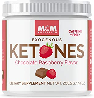 MCM Nutrition – Exogenous Ketones Supplement & BHB - Caffeine-Free, Ketone Drink for Ketosis - Instant Keto Mix, Puts You into Ketosis Quick & Helps The Keto Diet (Chocolate Raspberry - 15 Servings)