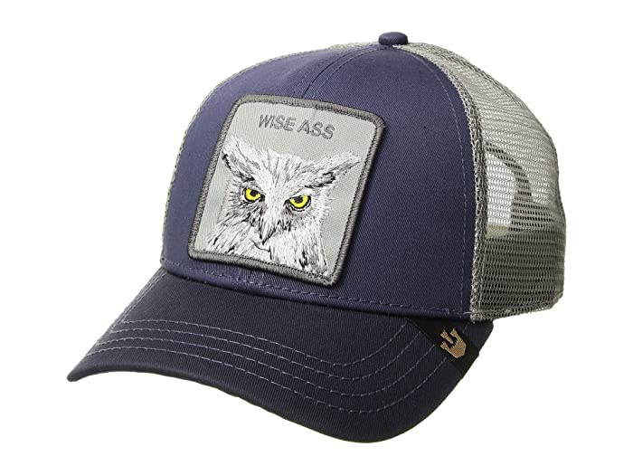 Goorin Brothers  Animal Farm Snap Back Trucker Hat (Navy X The Owl Hat) Caps