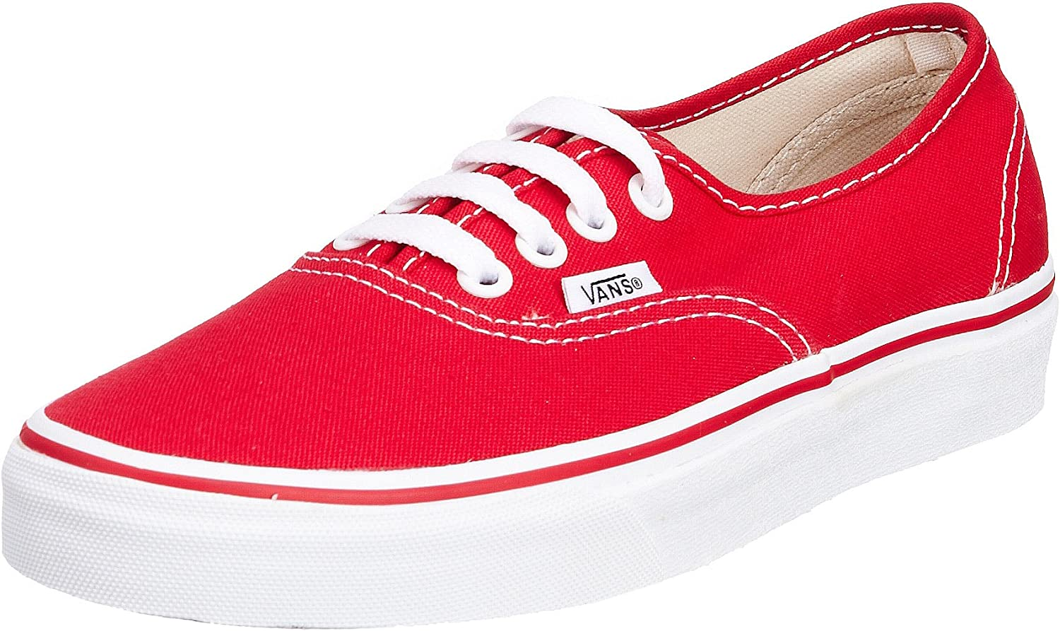 Vans Classic Red Canvas Authentic Skate