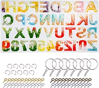 Alphabet Resin Molds Backward LET'S RESIN Letter Number Silicone Molds for Resin, Epoxy Molds for Making Keychain/House Number