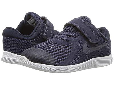 Nike Kids Revolution 4 (Infant/Toddler) (Natural Indigo/Light Carbon/Obsidian/Black) Boys Shoes