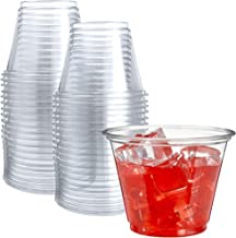 50 Clear Plastic Cups | 9 oz Plastic Cups | Clear Disposable Cups | PET Cups | Clear Plastic Party Cups | Crystal Clear Pl...