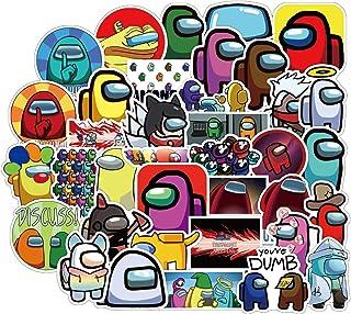 shuangmu 50 st Among amerikanska spel anime klistermärken, vattentäta vinylklistermärken dekaler graffiti klistermärken fö...