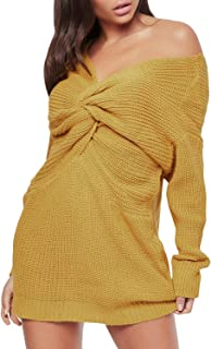 Best long sleeve off the shoulder dress casual Reviews