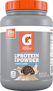 Sponsored Ad - Gatorade Whey Protein Powder, Cookies & Crème, 51 oz (50 servings per canister, 20 grams of protein per ser...