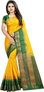 Nirja creation Women Emboss Silk Banarasi Saree
