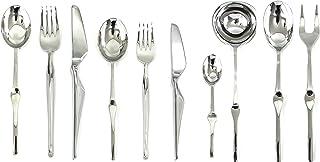 Mepra 132228045 Set, [45 Piece, Stainless Steel Finish, Dishwasher Safe Cutlery