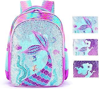 Reversible Sequin School Backpack Lightweight Little Kid Book Bag for Preschool Kindergarten Elementary