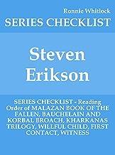 Steven Erikson - SERIES CHECKLIST - Reading Order of MALAZAN BOOK OF THE FALLEN, BAUCHELAIN AND KORBAL BROACH, KHARKANAS TRILOGY, WILLFUL CHILD, FIRST CONTACT, WITNESS