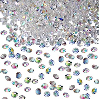 YUEAON 2000pcs AB Color Crystals Acrylic Diamonds Vase Fillers for Table Centerpiece Wedding Bridal Shower Party Decorations,10mm