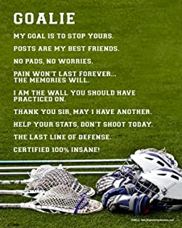 """Posters and Prints by Magnetic Impressions Unframed Lacrosse Goalie 8"""" x 10"""" Sport Poster Print"""