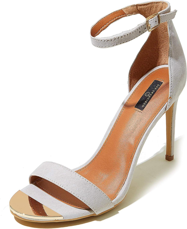 DailyShoes San Diego Cheap SALE Start Mall Women's Stilettos Sandal Open Strap Buckle Toe Ankle