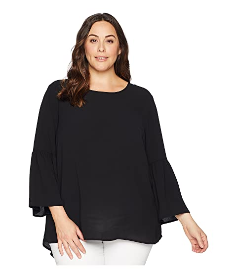 KARI LYN Plus Size Poppy Bell Sleeve Top Black Outlet Looking For Buy Online Cheap Cheap Reliable Buy Cheap From UK bDSKJRAgU
