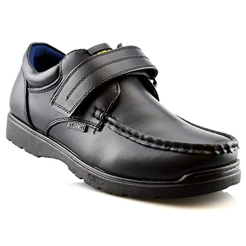 Boys Back to School Shoes Light Weight Formal Casual Touch Strap UK Sizes