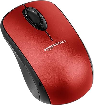 AmazonBasics - Mouse ottico senza fili con microricevitore, Rosso - Confronta prezzi
