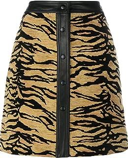 Adam Lippes Tiger Print Jacquard Mini Skirt 0