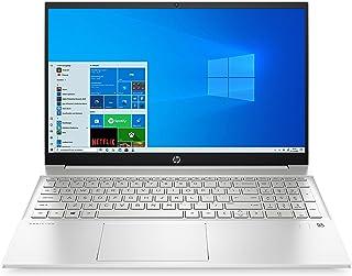 HP Pavilion 15-eh1254ng (15,6 Zoll / FHD) Laptop (AMD Ryzen 5 5500U, 8GB DDR4 RAM, 512GB SSD, AMD Radeon Grafik, Windows 10, QWERTZ-Layout) silber, mit Fingerprintsensor
