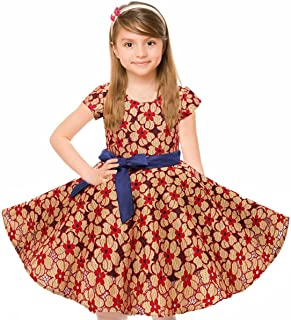 Áo quần dành cho bé gái – Girls Vintage Swing Floral Lace Dress for Tea Party Church
