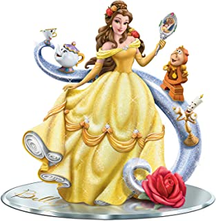 Disney Beauty and the Beast Figurine with Belle and Her Castle Friends by The Hamilton Collection
