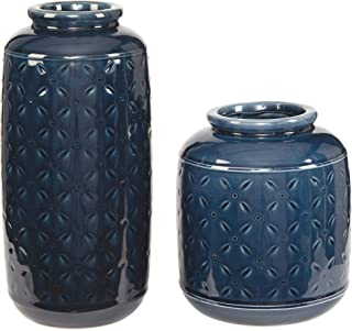 Ashley Furniture Signature Design - Marenda Vase Set - Navy Blue