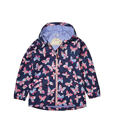 Hatley Kids Butterfly Kaleidoscope Rain Jacket (Toddler/Little Kids/Big Kids) (Blue) Girl