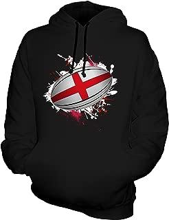 Unisex England Rugby Ball Splatter Mens/Womens Hoodie