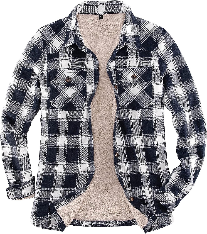 Women's Sherpa Industry No. 1 Fleece Lined Flannel Button mart Jacket Shirt Pla Down