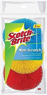 Scotch-Brite Non-Scratch Plastic Scrubbing Pads, 3 Scrubbing Pads