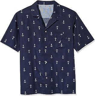 Nautica Unisex's Men's Sueded Knit Palm Print Pajama Short Bottom