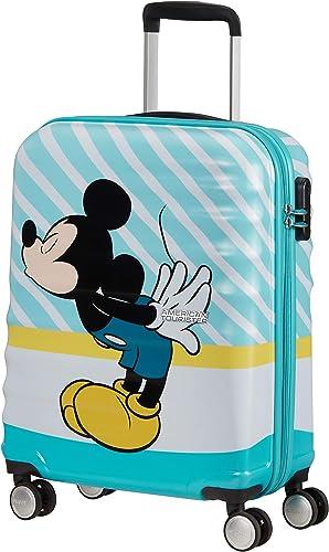 American Tourister Wavebreaker Disney - Spinner S Bagage Cabine, 55 cm, 36 L, Multicolore (Mickey Blue Kiss)