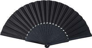 La Senorita Flamenco Fächer, Handfächer, Tanzfächer - Holz schwarz Large