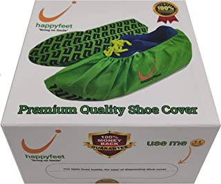Shoe Covers Disposable Indoor Non-Slip - Premium Gift Packaging, Reusable Booty Cover, Thickest 70gsm Fabric, Extra Durabl...