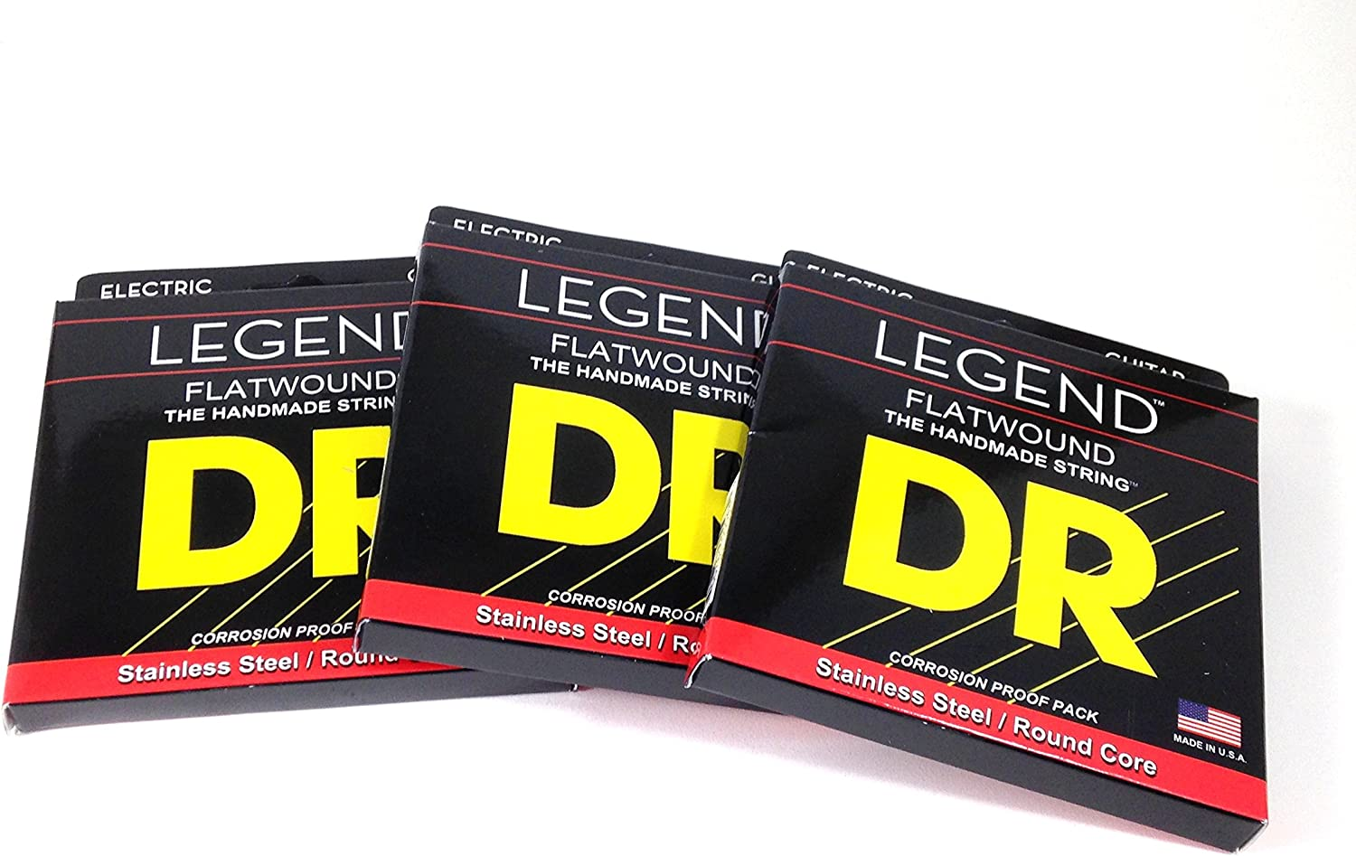 DR Guitar Strings cheap famous 3 Pack Electric Stainless St Flat Wound Legend