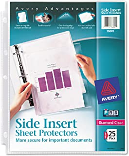 Avery 76001 Secure Side-Load Sheet Protectors, Heavy Gauge, Letter, Diamond Clear (Pack of 25)