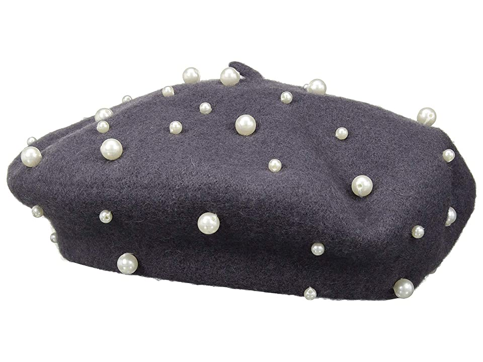 1950s Women's Hat Styles & History San Diego Hat Company WFB2014 Pearl Beret Grey Berets $74.25 AT vintagedancer.com