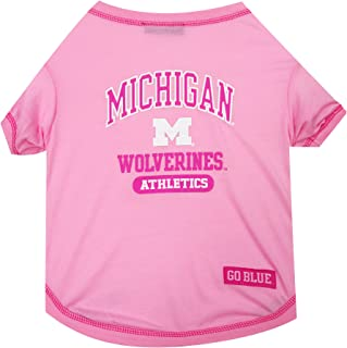 NCAA Pink Dog T-Shirt - Pet Pink Sports Outfit