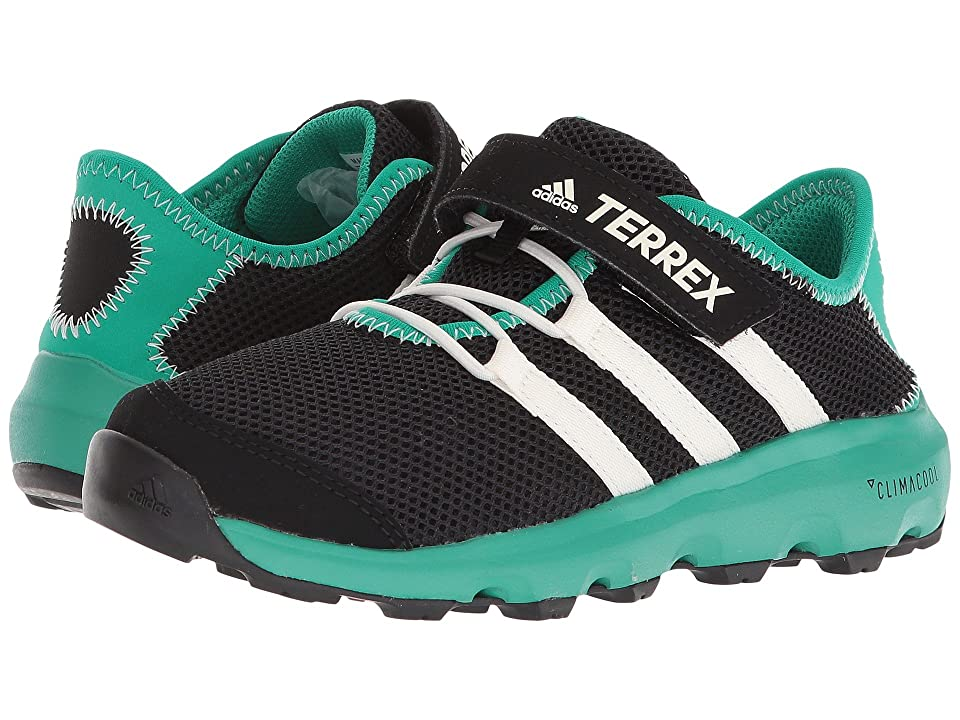 adidas Outdoor Kids Terrex Climacool Voyager CF (Little Kid/Big Kid) (Black/Chalk White/Core Green) Boys Shoes