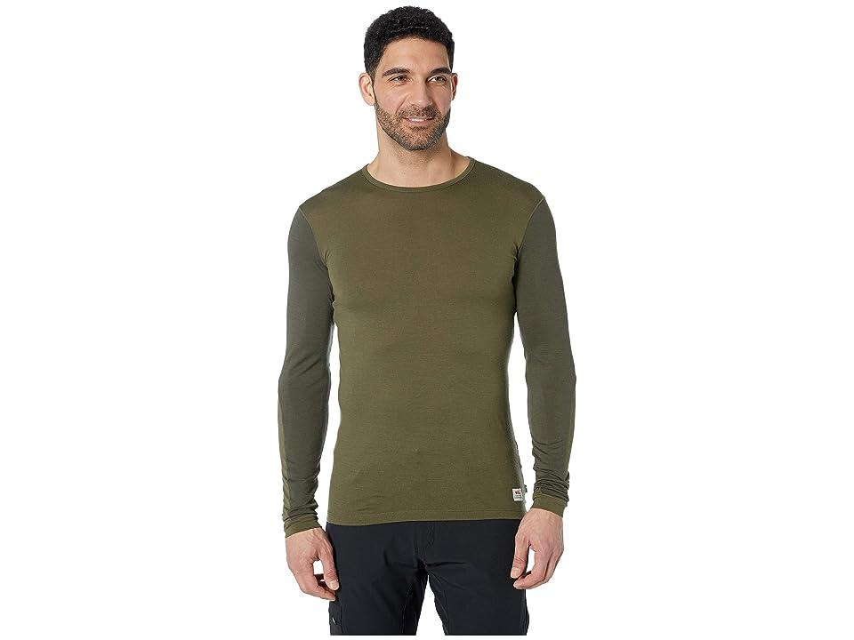 Fjallraven Keb Wool T-Shirt Long Sleeve (Laurel Green/Deep Forest) Men