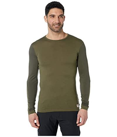 Fjallraven Keb Wool T-Shirt Long Sleeve (Laurel Green/Deep Forest) Men