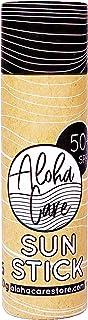Aloha Sun Stick SPF 50+ | Protector solar mineral teñido para el surf | Tubo de papel ecológico (rosa)