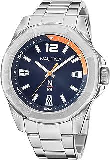 Nautica Men's Quartz Stainless Steel Strap, Silver, 22 Casual Watch (Model: NAPTBF103)