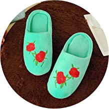 Womens Slipper Shoes Floor Home Slippers Female Quiet Cotton Fluffy Slippers for Women Comfortable Shoes Black W338